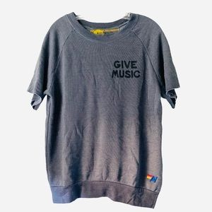 NWT Aviator Nation Men's Give Music Sweat Pullover